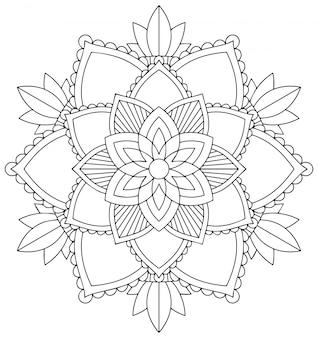 白い背景のマンダラパターン