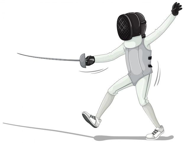 Спортсмен, изолированный на белом