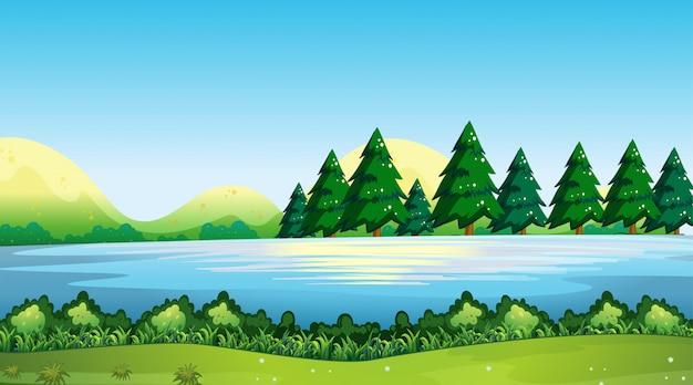 空の背景の自然の風景