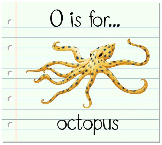 Карточка буква о для осьминога