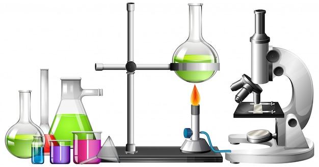 科学機器のセット