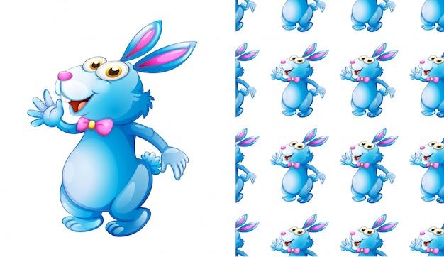シームレスなウサギ動物パターン漫画
