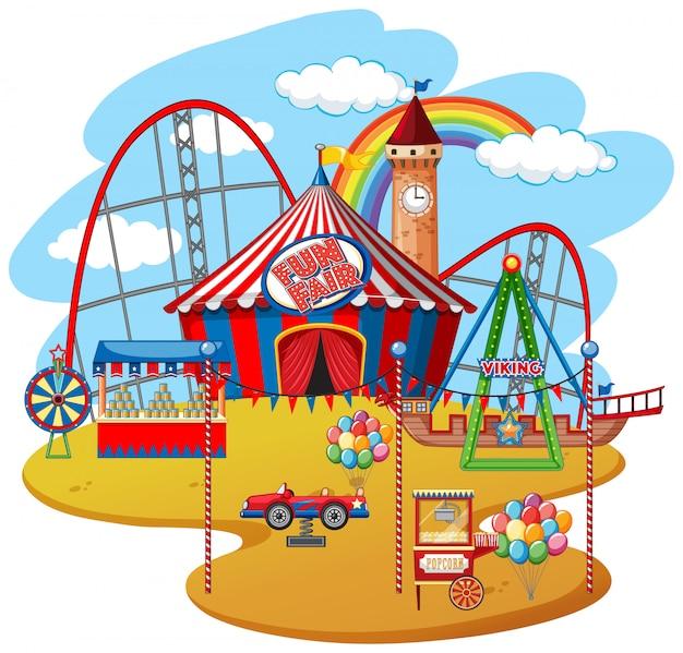 楽しいフェアのテーマパーク
