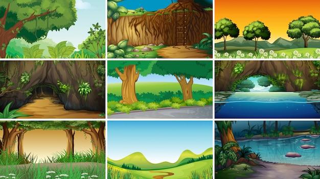Пустой пейзаж природа сцены
