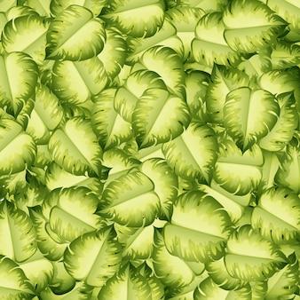 Бесшовный фон с зелеными листьями