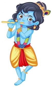 Индийский бог на белом