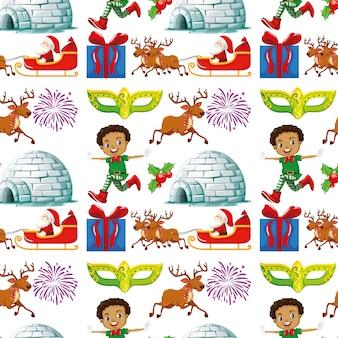 クリスマスをテーマにしたシームレスな背景