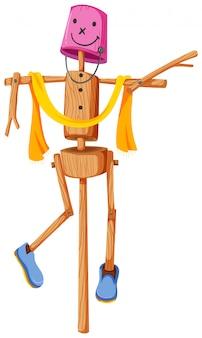 木製のかかし