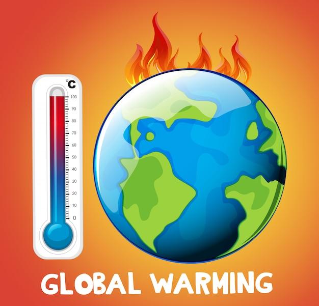 地球上の火による地球温暖化