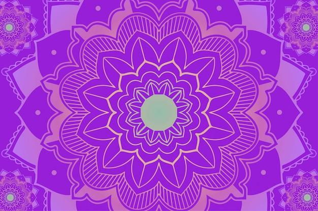紫色の背景にマンダラパターン