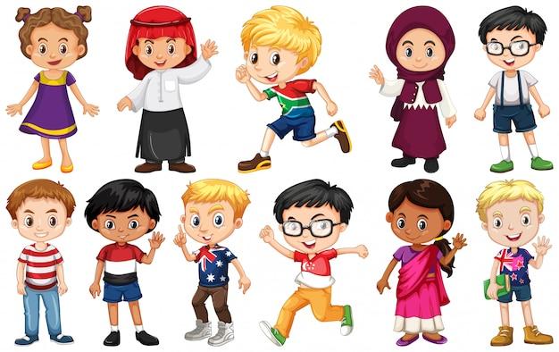 Набор детей из разных стран