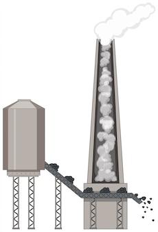 石炭エネルギーのある工場