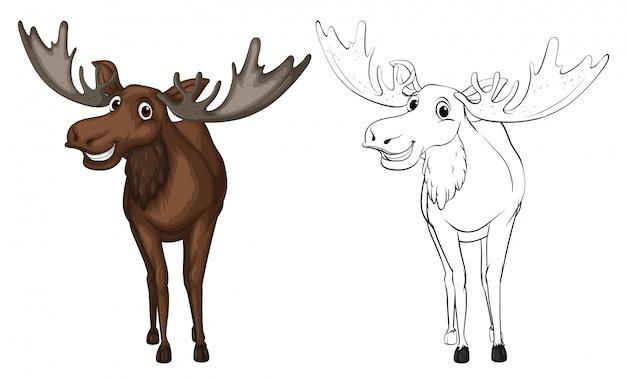 Контур животных для лося