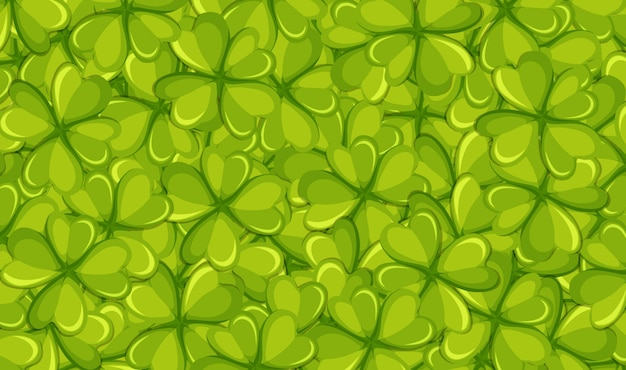 Фон шаблон с зелеными листьями