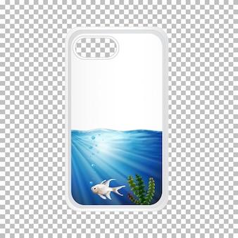 海中の魚の電話ケース