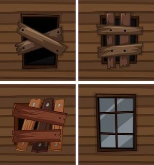 Окна с хорошими и плохими условиями