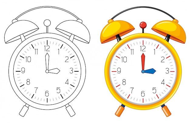 目覚まし時計の落書きオブジェクト