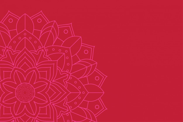赤の背景にマンダラデザイン