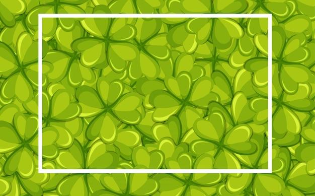 Фон рамка с зелеными листьями