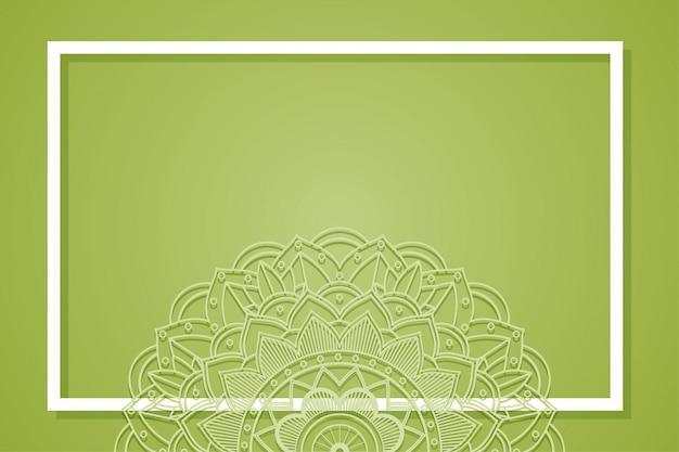 Фон рамки с дизайном мандалы