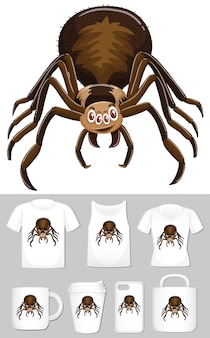 Графика паука на разных шаблонах товара