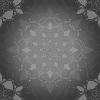 灰色のマンダラパターン背景