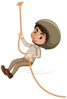 少年クライミングロープ