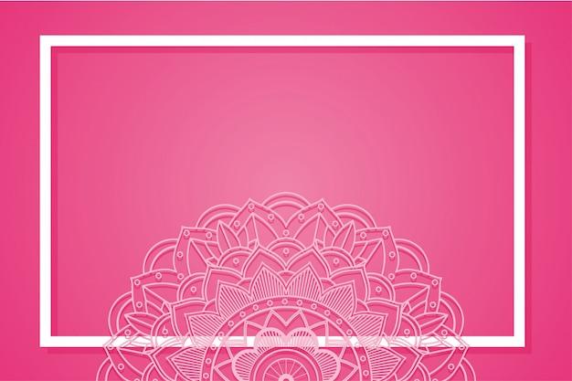 マンダラデザインの背景フレーム