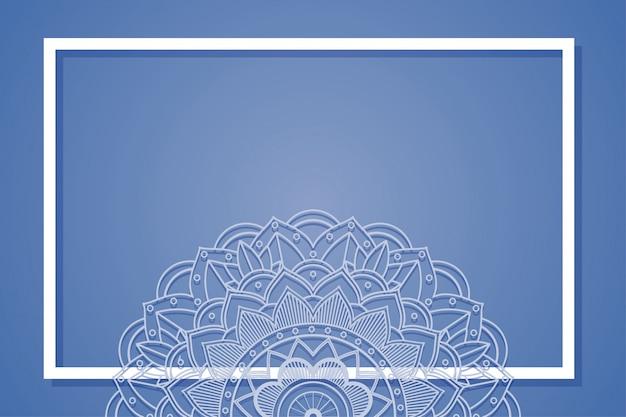 Фон рамки с узорами мандалы