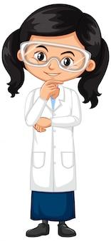 科学のガウンの女の子