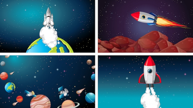 ビッグスペースシーンセット