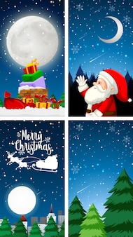 クリスマスをテーマにしたテンプレート