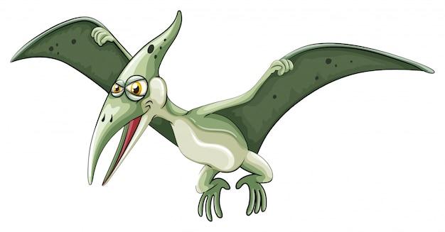 Летающий динозавр на белом