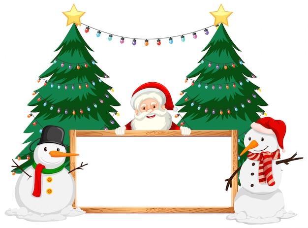 Новогодняя тема с дедом морозом и снеговиком