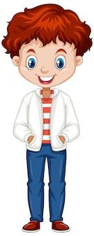 Мальчик в белом пиджаке