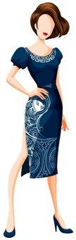 ファッションチャイナドレス