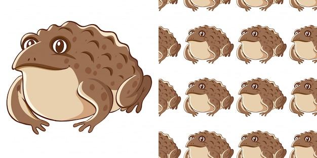 Бесшовный фон с коричневой жабой