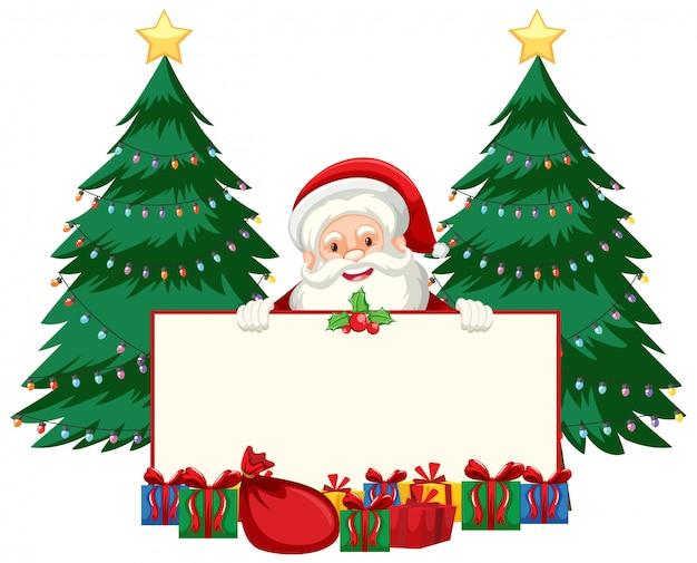 サンタとプレゼントのクリスマステーマ