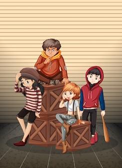 Группа проблемных подростков