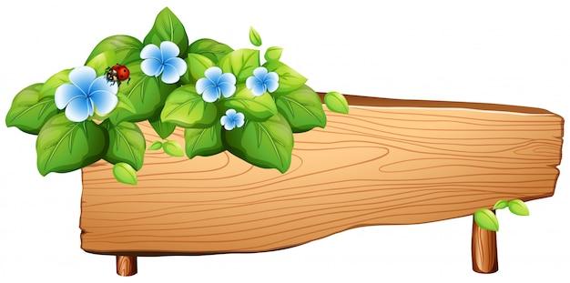 花とバグの看板