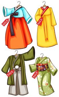 アジアの衣装