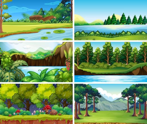 Пустые, пустые пейзажи природы