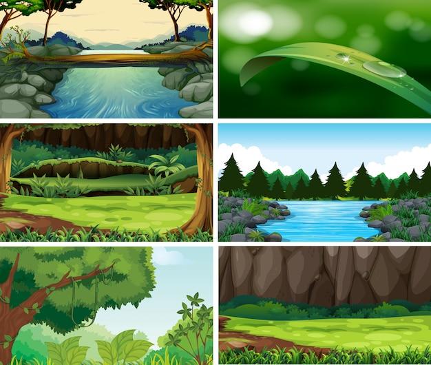 Пейзаж природа сцены