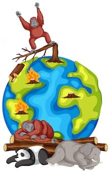 Животные умирают на земле