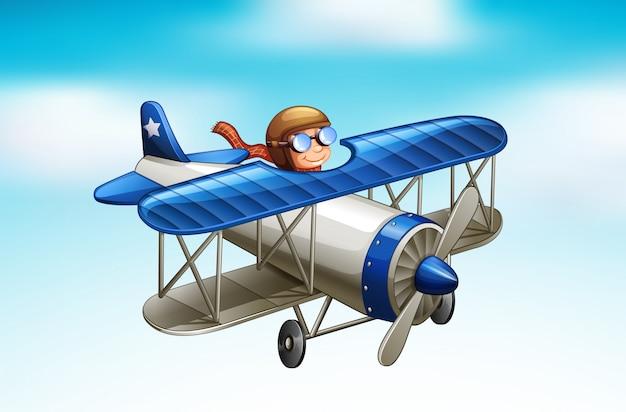 空を飛んでいる飛行機のシーン