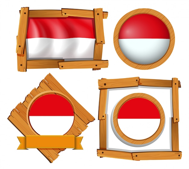 Флаг индонезии в разных кадрах