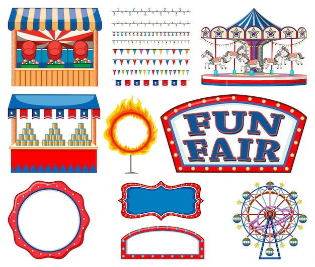 Набор цирковых предметов коллекции