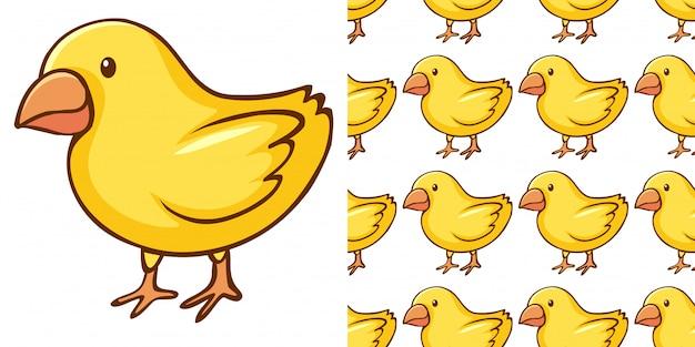 Дизайн с бесшовный узор маленьких птенцов