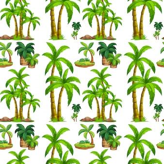 Бесшовные пальмы и остров