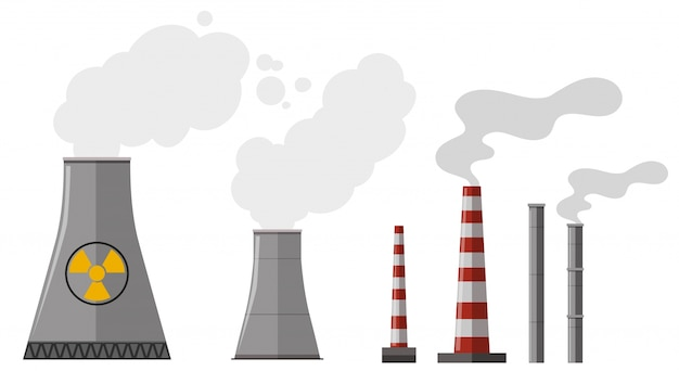 異なる種類の煙突